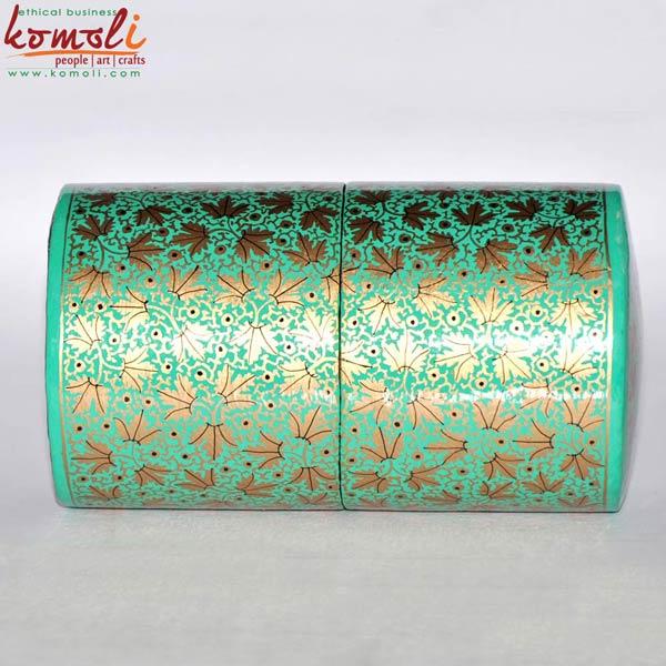Cylindrical Paper Mache Box (Komoli-29002-GB)