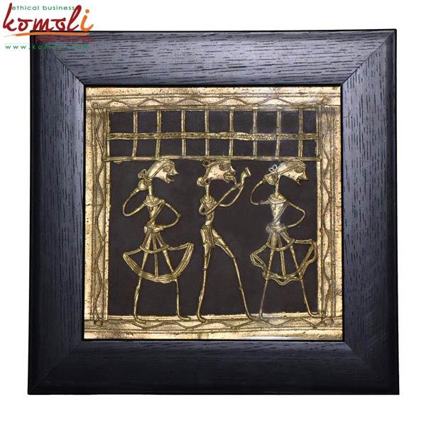 Dhokra Wall Panel (Komoli-6017-BL)