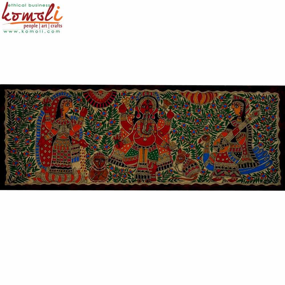 Ganesha Madhubani Painting (Komoli-42001-ML)