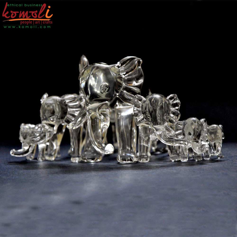 Glass Elephants (Komoli-12019-GL)