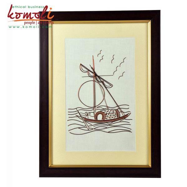 House Boat Wire Art (Komoli-14007-BR)