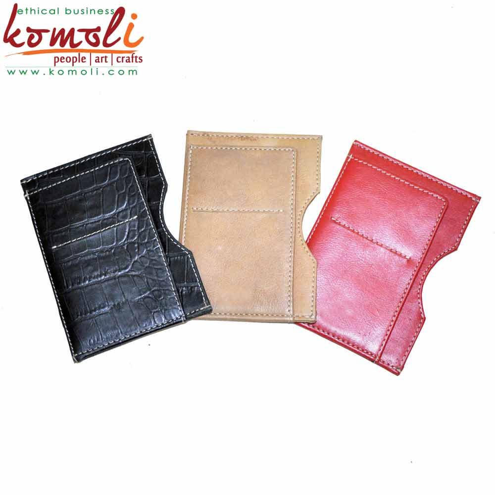 Leather Passport Covers (Komoli-33003-RD)