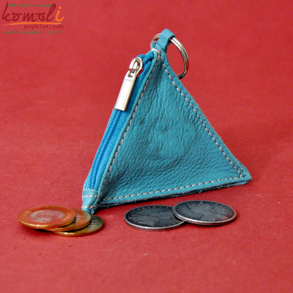 Leather Pyramid Pouch (Komoli-32002-BE)