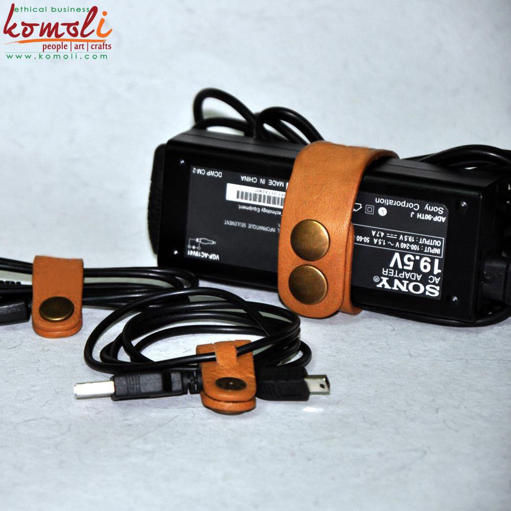 Leather Wire Managers (Komoli-36001-TA)