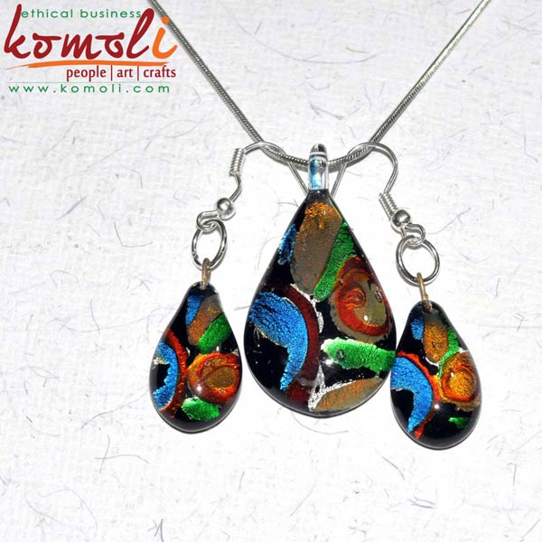 Pendant with Earrings (Komoli-12039-ML)