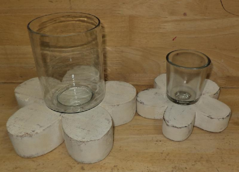 Wooden T-Light Candle Holders