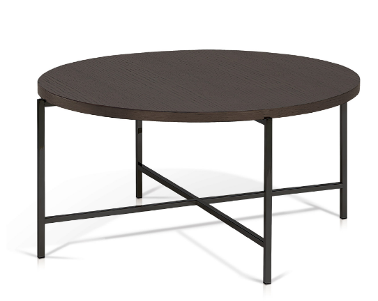 bergen - smoked oak top round coffee table