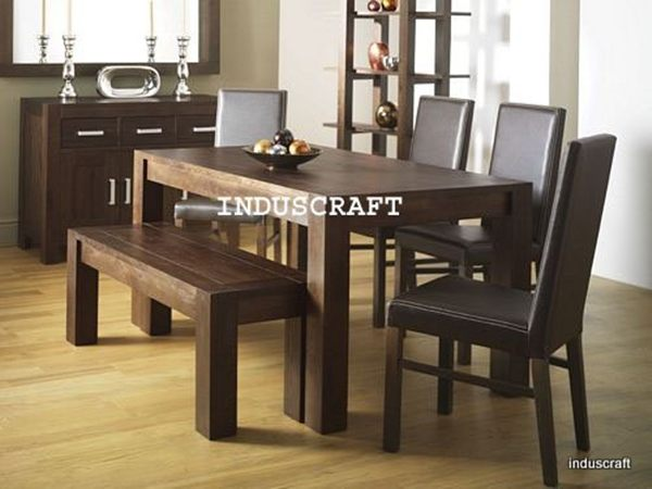 Chair Bench Dining Table Set INDN22