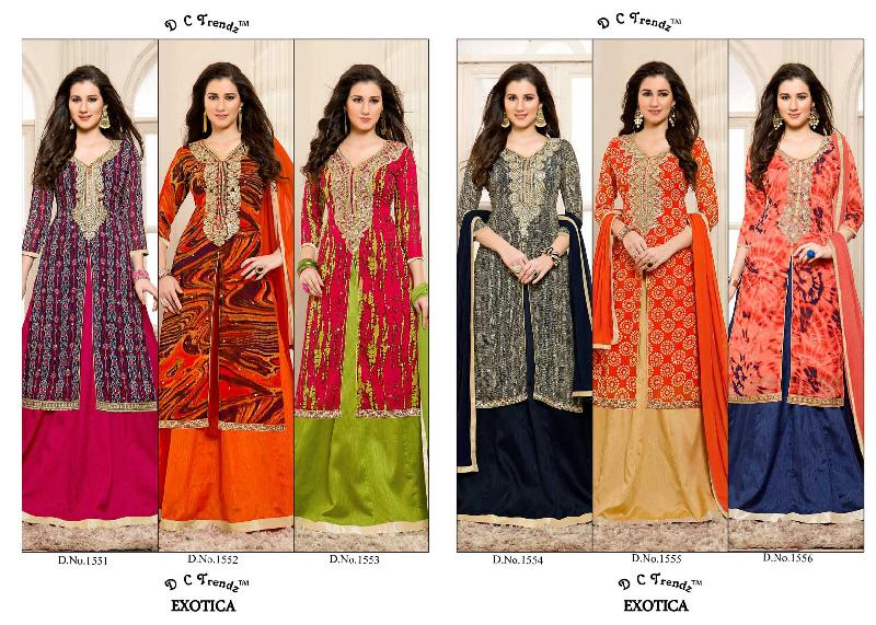 6a1e54a2df Buy DC TRENDZ EXOTICA GEORGETTE FABRIC WHOLESALE CATALOG SURAT from ...