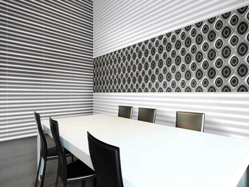 Black Wall Tiles White B W