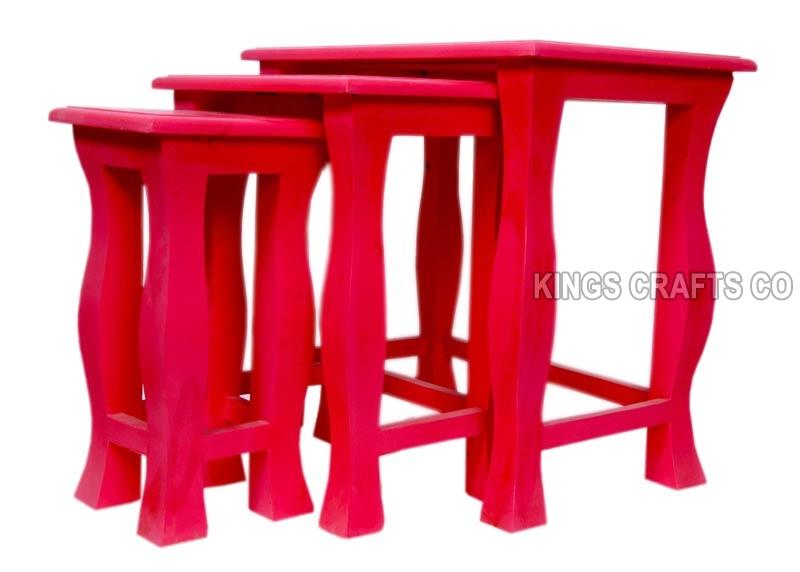 Plain Wooden Stool Set  sc 1 st  Exporters India & Buy Plain Wooden Stool Set from Kings Crafts Co Jodhpur India ... islam-shia.org