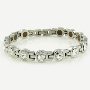 Crystals Stainless Steel Bracelet
