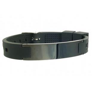 Black Plain Ionic Bracelet