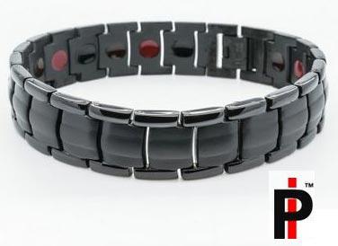 Two Tone Black Titanium Bracelets