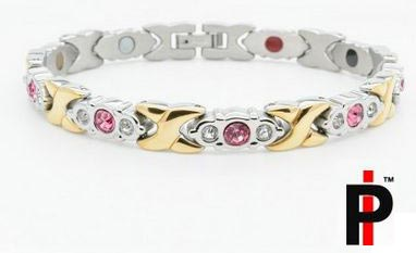 Gold and Pink Crystals Bracelets