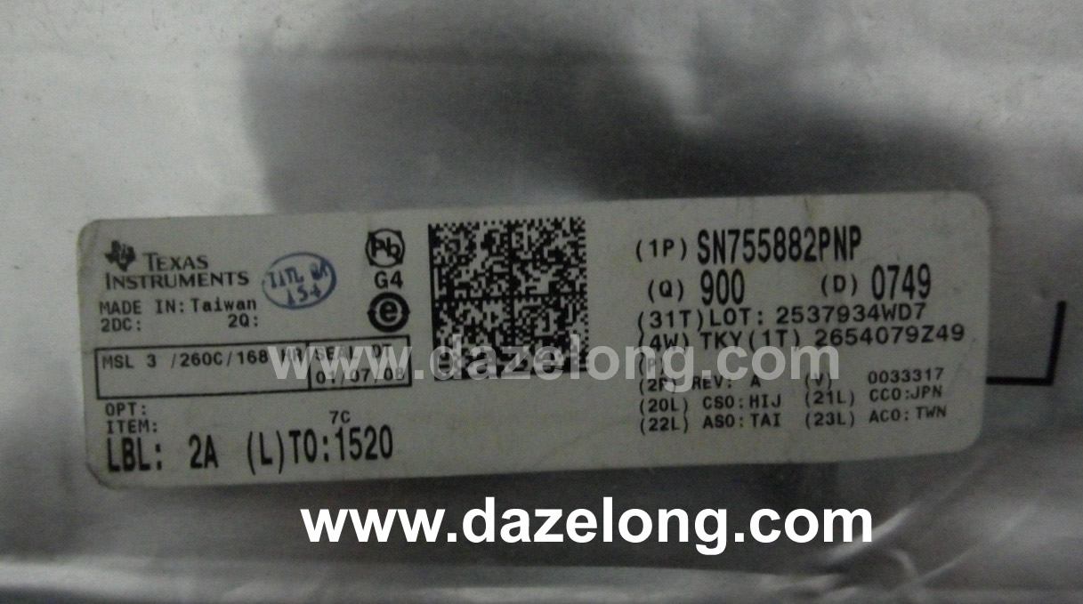 Buy Integrated Circuit Chips From Hk Dazelong Electronic Co Ltd Sn755882 Sn755882pzp Lj92 01400a