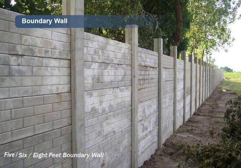 Buy concrete boundary walls from e con precast system india id 928030 - Concrete fence models design ...