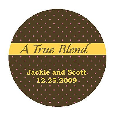 A True Blend Circle Wedding Favor Sticker