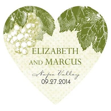 A Wine Romance Heart Sticker