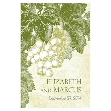 A Wine Romance Large Rectangular Tag