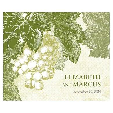 A Wine Romance Rectangular Label