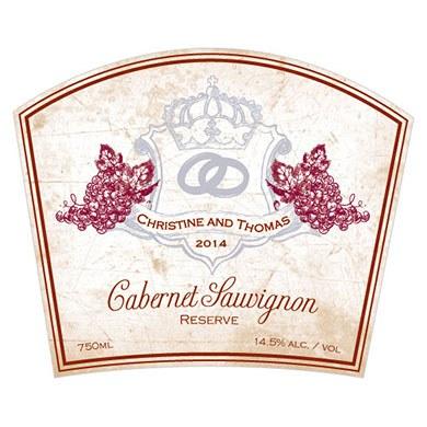 Aged Vineyard Rectangular Sticker
