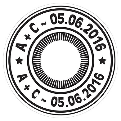 Airmail Diecut CD Label
