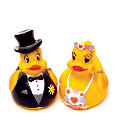 Bride Or Groom Rubber Duck Wedding Favor