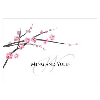Cherry Blossom Large Rectangular Tag