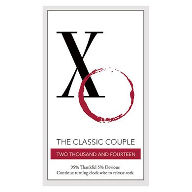 Classic Couple Rectangular Sticker