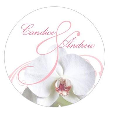 Classic Orchid Small Sticker