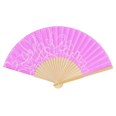 Contemporary Hearts Fan - Orchid Purple