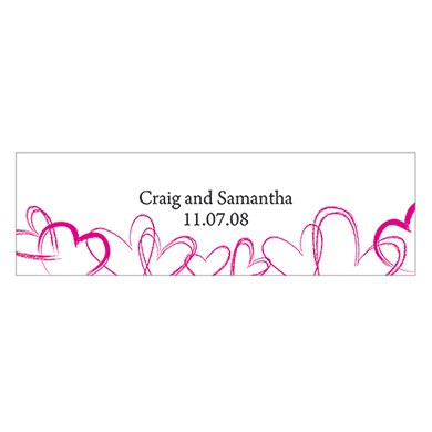 Contemporary Hearts Small Rectangular Tag