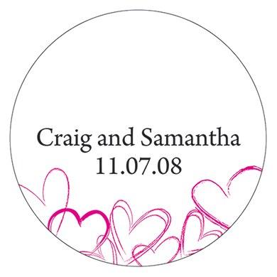 Contemporary Hearts Small Sticker