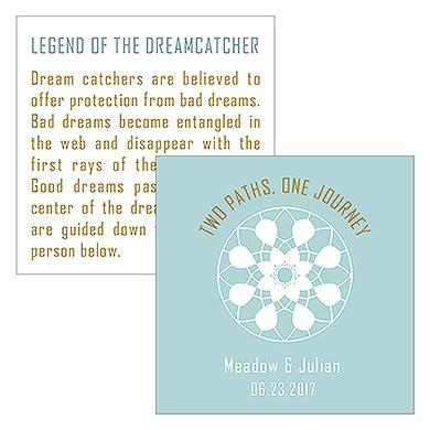 Dreamcatcher Legend Square Favor Card