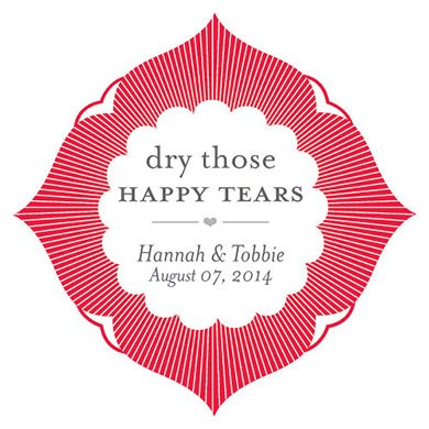 Dry Those Happy Tears Sticker