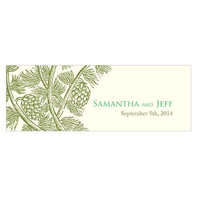 Evergreen Small Rectangular Tag