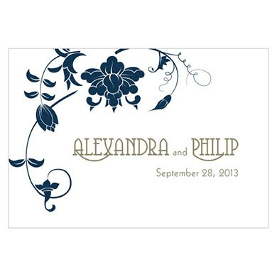 Floral Orchestra Large Rectangular Tag
