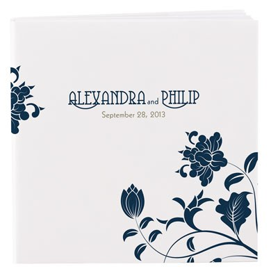 Floral Print Notebook Wedding Favor