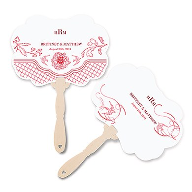 French Whimsy Personalized Hand Fan