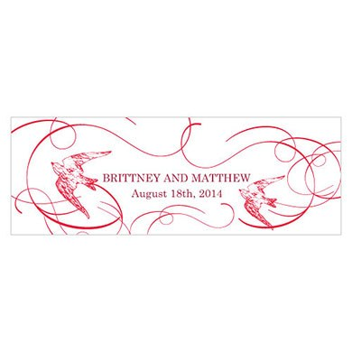 French Whimsy Small Rectangular Tag