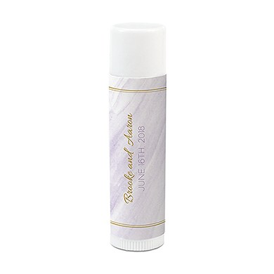 Geo Marble Personalized Lip Balm
