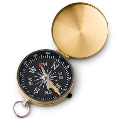 Gold Compass Wedding Favor
