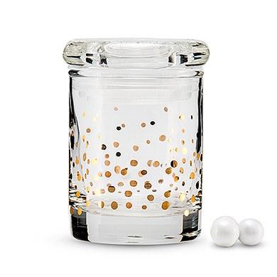Gold Foil Confetti Mini Glass Favor Jar