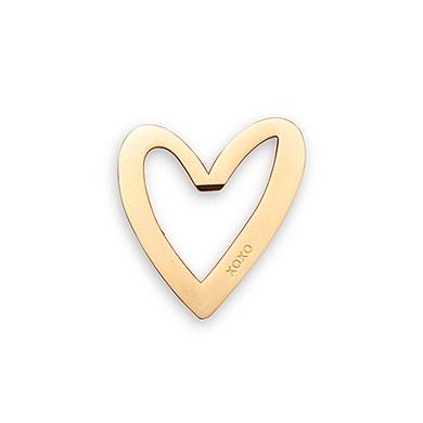 Gold Heart XO Bottle Opener