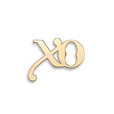Gold XO Bottle Opener