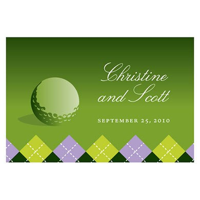 Golf Large Rectangular Tag
