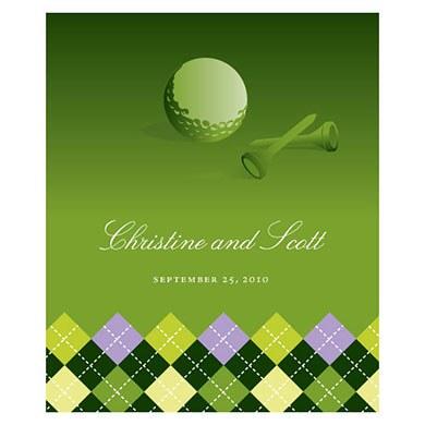 Golf Rectangular Label
