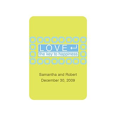 Happiness Wedding Favor Sticker
