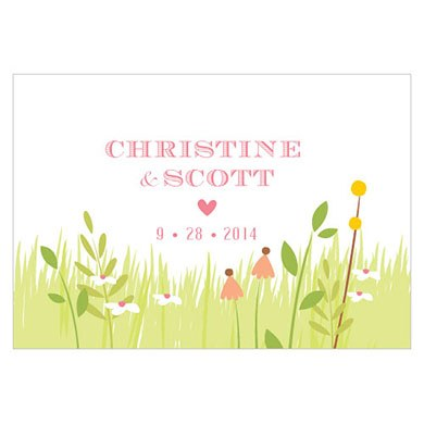 Homespun Charm Large Rectangular Tag